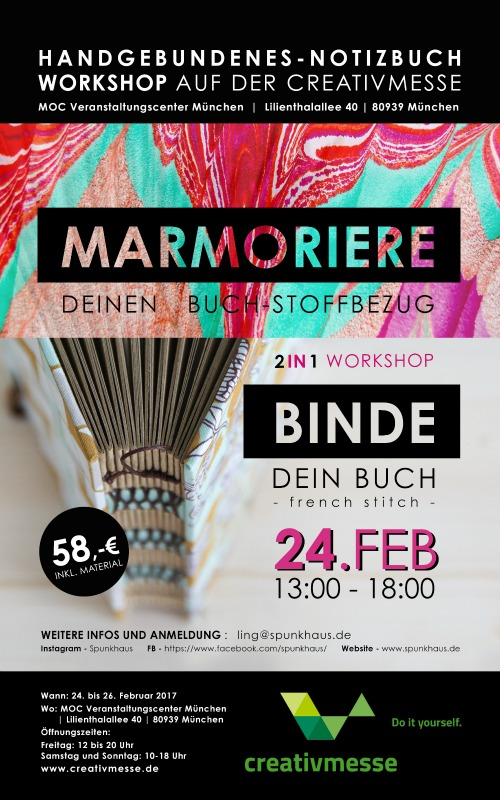 Flyer workshops creativmesse